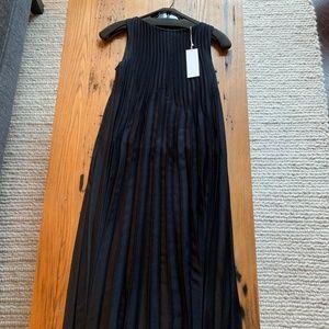 Vince Sleeveless Pleated Midi Dress